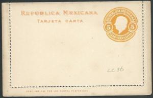 MEXICO Early 5c lettercard unused..........................................66173
