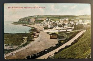 Vintage 1904 Whitehead Promenade to England Ireland Real Picture Postcard Cover