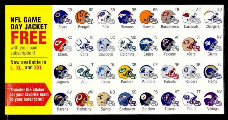 US - Sports Illustrated - NFL Football Helmet Stickers Sheet (SW)