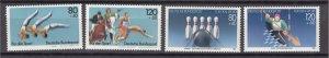 J26884 1983 & 5 germany sets mh #b609-10,b628-9 sports