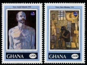 HERRICKSTAMP GHANA Sc.# 1604-05 1993 Art
