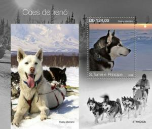 St Thomas - 2019 Sledge Dogs - Stamp Souvenir Sheet - ST190202b