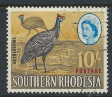 Southern Rhodesia  SG 104 SC# 107  Guinea Fowl Used see details and scans
