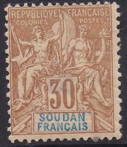FRENCH SUDAN 1894 PEACE & COMMERCE 30C