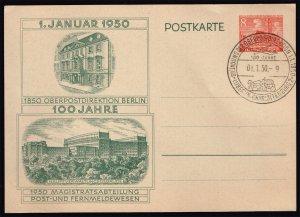 Germany-Berlin Mi P10 Postal Card FDC (MCV 45 Euro)
