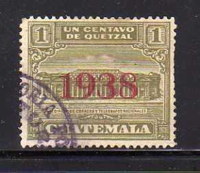 Guatemala RA9 U Post Office and Telegraph Building (B)
