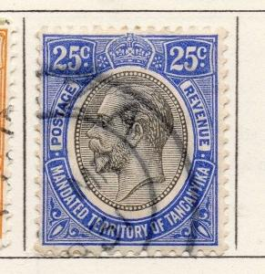 Tanganyika 1927 Early Issue Fine Used 25c. 269601