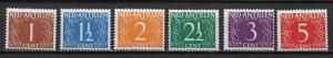 Netherlands Antilles 208-12, 13 Numerals part set MLH