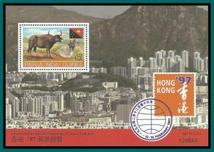 Papua New Guinea 1997 Hong Kong Stamp Expo, MS, MNH 911,SGMS808
