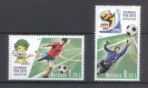Moldova 2010 Football World Cup South Africa 2010 2 MNH stamps
