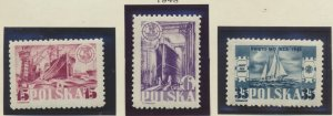 Poland Stamps Scott #420 To 422, Mint Hinged - Free U.S. Shipping, Free World...