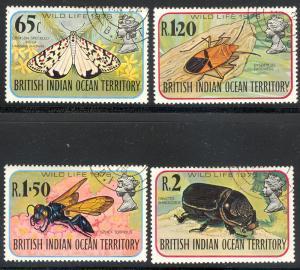 British Indian Ocean Territory BIOT 86-89 used Wildlife