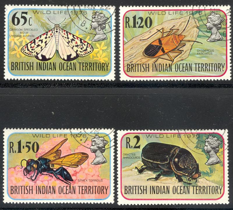 British Indian Ocean Territory BIOT 86-89 used Wildlife