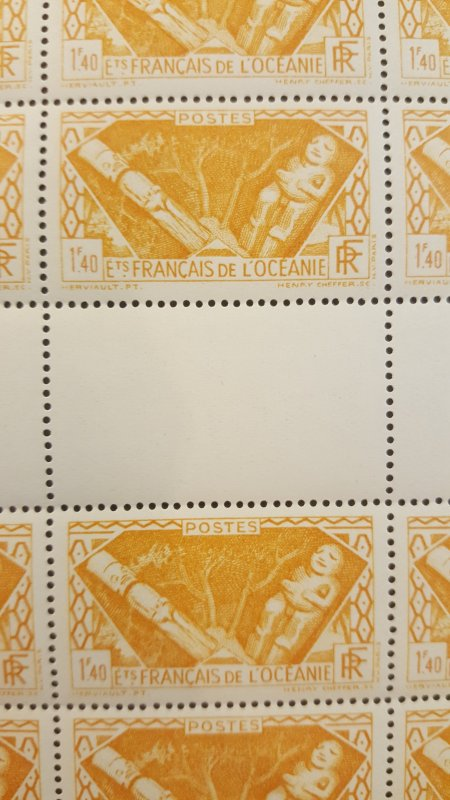 French Polynesia #106* NH Full sheet of 50  CV $62.50+