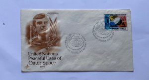 UN FDC , UNITED NATIONS PEACEFUL USES OF OUTER SPACE   1975