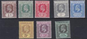LEEWARD ISLANDS  1907 - 11     S G  36 - 43   VALUES TO 1/-    MH