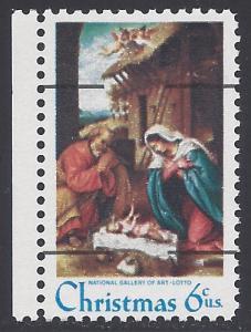 #1414a 6c Christmas Nativity Precancel 1970 Mint NH