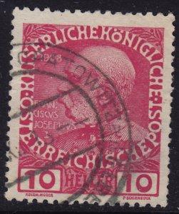 Austria - 1908 - Scott #115 - used - OPATOWITZ pmk Czech Republic