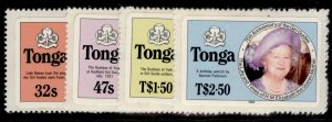 TONGA QEII SG915A -918A, life & times of Queen Mother set, NH MINT. Cat £16.