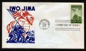 1945 IWO JIMA MARINES FDC - Clean Cachet Cover - SUPER NICE