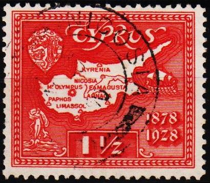 Cyprus.1928 1 1/2pi S.G.125 Fine Used