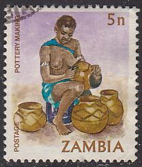 Zambia 242 Hinged Used 1981 Potter Carving Designs