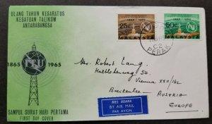 Malaysia International Telecommunications ITU 1965 (FDC) *addressed *see scan