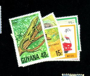 Guyana #259-62,267-70 MINT VF OG LH Cat$23