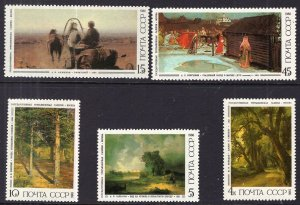 Russia MNH 5466-70 Paintings SCV 2.35