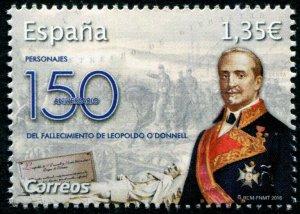 HERRICKSTAMP NEW ISSUES SPAIN Sc.# 4298 Leopoldo O'Donnell