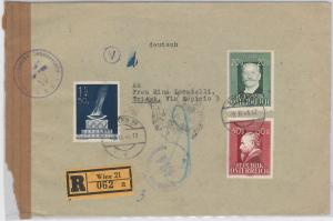 57226  - Sport  OLYMPIC GAMES -  AUSTRIA - POSTAL HISTORY: REGISTERED COVER 1948