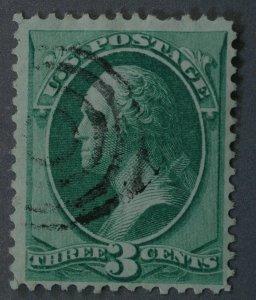 United States #147 3 Cent Washington Used Very Fine Bullseye Cancel