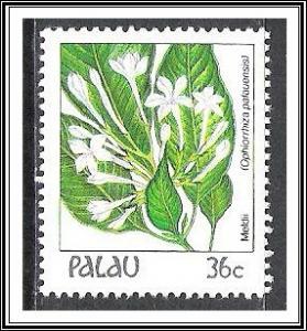 Palau #134 Indigenous Flowers MNH