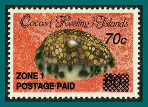 Cocos 1991 Surcharge 70c, MNH 231,SG237