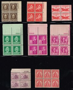 US STAMP BLK OF 4, 6  MINT STAMPS COLLECTION LOT