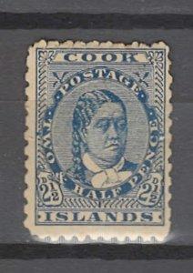 COLLECTION LOT # 2971 COOK ISLANDS # 29 UNUSED NO GUM 1902 CV=$15
