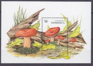 1991 Dominica 1403/B183 Mushrooms 6,00 €
