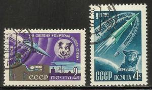 Russia 1961 Scott# 2491-2492 Used CTO
