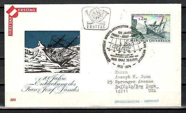 Austria, Scott cat. 949. North Pole Expedition issue. First day cover.