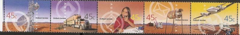 Australia 1966a 1962-6 2001 Outback Services strip MNH
