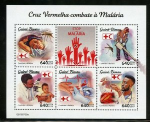 GUINEA BISSAU 2019 FIGHT AGAINST MALARIA RED CROSS  SHEET MINT NH
