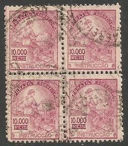BRAZIL 406 VFU BLOCK OF 4 Y703-4