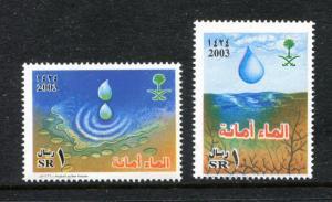 Saudi Arabia 1330-1331, MNH, 2003, Water campaign 2v x27353
