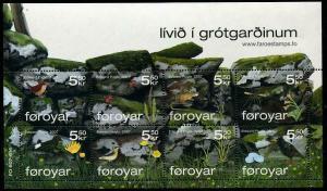 HERRICKSTAMP FAROE ISLANDS Sc.# 494 Stone Fence & Wildlife Sheet of 8 Stamps