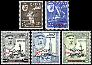 Qatar 111-111D, MNH, Surcharges on  J.F. Kennedy Memorial