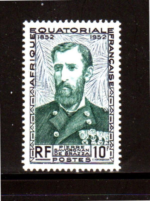FRENCH EQUATORIAL AFRICA #185  1951  PIERRE BRAZZA    MINT  VF NH  O.G