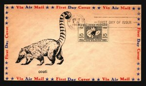 Canal Zone SC# 141 FDC / Single / Cacheted - L1597