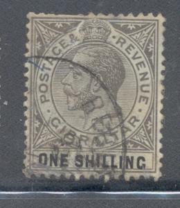 Gibraltar Sc 84a 1932 1/ brn ol & black George V stamp used
