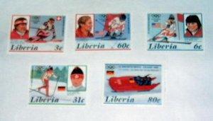 Liberia - 1049-53, MNH Set. Olympics. SCV - $5.25