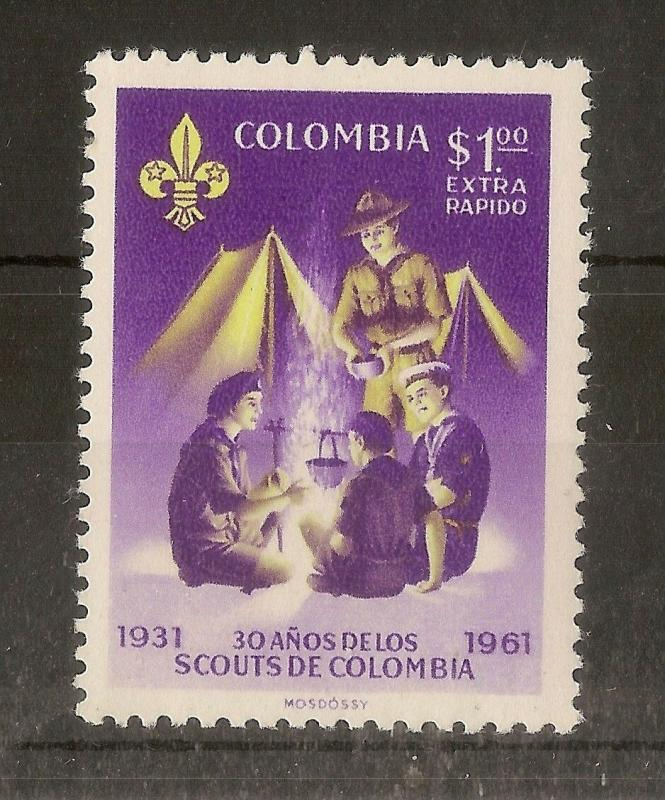 Colombia 1962 Scouts Extra Rapido SG1125 MNH
